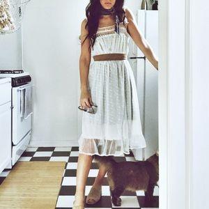 Dresses & Skirts - Vintage Lace Slip Dress